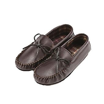 Eastern Counties Leather Unisex Fabric Lined Moccasins
