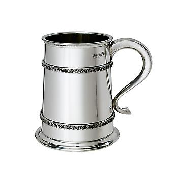 1 Pint Double Celtic Bands Pewter Tankard
