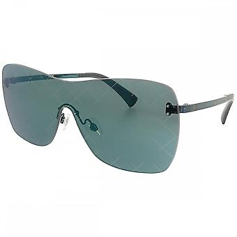 Chanel Chanel Ladies Runway Shield Rimless Sunglasses With Blue Mirror Lenses