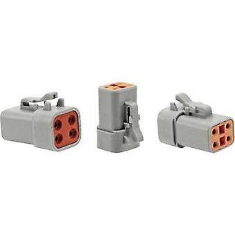 Amphenol ATP06 4S Bullet connector Socket, straight Series (connectors): AT 1 pc(s)