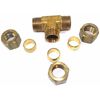 Big A Service Line 3-164920 Brass Pipe, Tee Fitting Kit 3/4