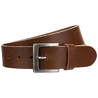 s.Oliver mens leather belt cognac buckle 98.899.95.1771-8765
