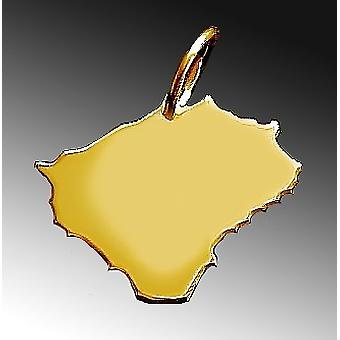 Trailer map BOHEMIA pendant in solid 585 yellow gold