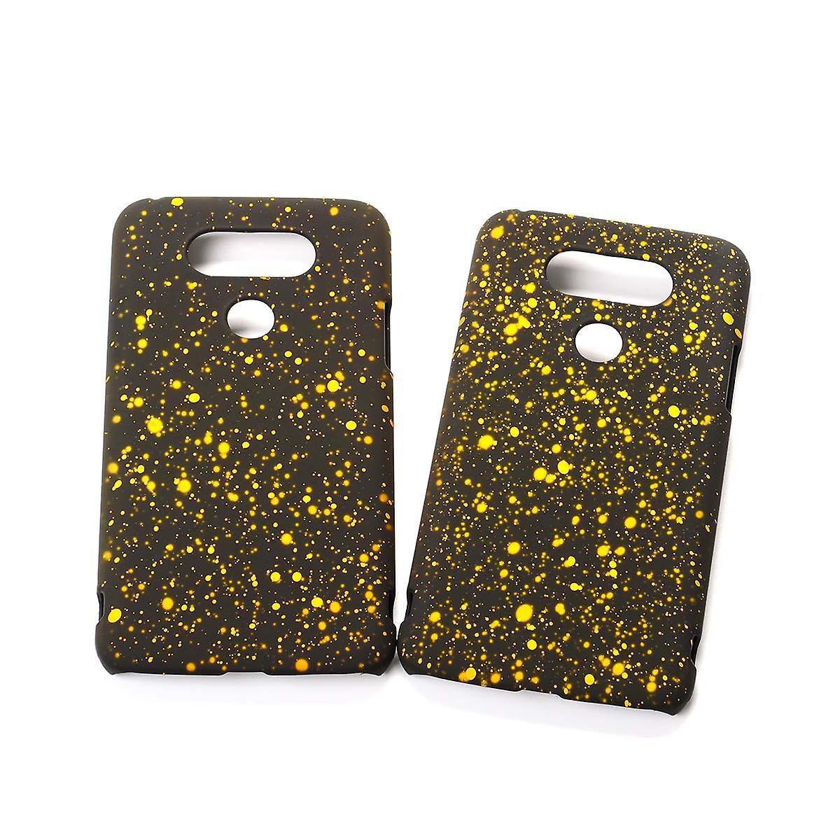 Handy Hülle Schutz Case Bumper Schale für LG G5 3D Sterne Gelb