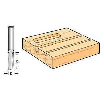 Flauta de carburo de tungsteno X 1/4 dos tendencia C015 9,5 mm