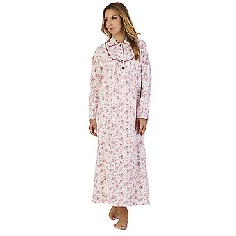 Slenderella ND2212 Women's Luxury Flannel Floral Night Gown Loungewear Nightdress