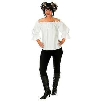Пират кофточка без бретелек Белый пиратский костюм для женщин