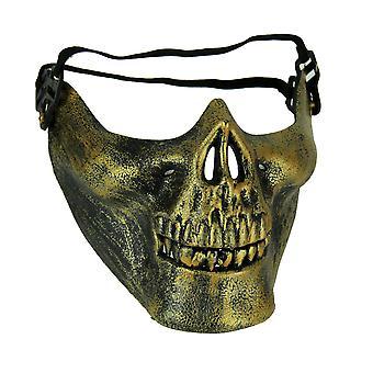 Cool Molded Half Face Skull Costume Mask