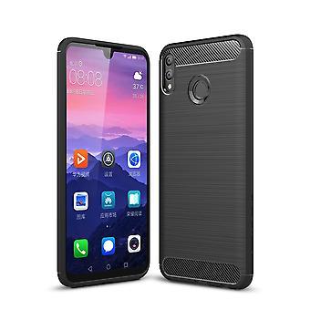 Huawei honor 8 X MAX TPU caso carbono fibra óptica escovado estojo preto