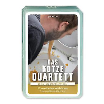 Quartett Kotzequartett Kartenspiel Karten Erbrochen