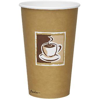 Papel de pared simple de Caffe Premium dobladoras tazas 16oz