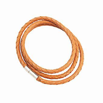 Armbånd læder Slim-lys brun F2821LBN04