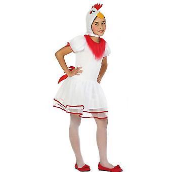 Børns kostumer piger Kylling kostume til piger