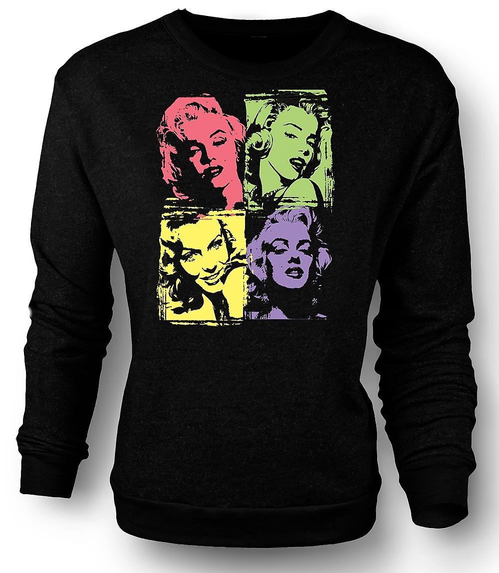 Mens Sweatshirt Marilyn Monroe - Pop Art - Warhol - Pin-Up