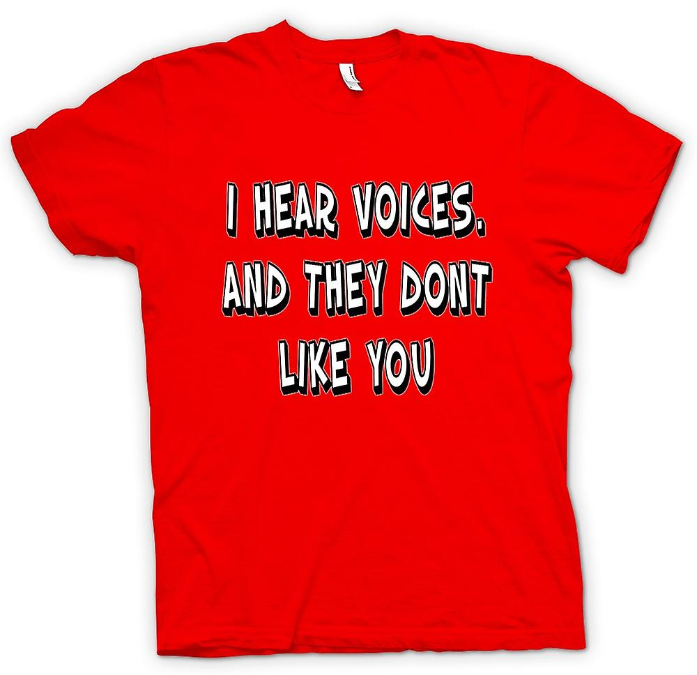 Mens t-shirt - I Hear Voices - sesto senso