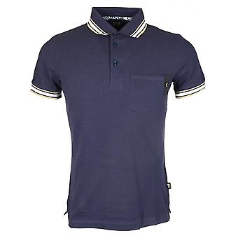 Cavalli Class Jersey Stretch Night Blue Polo