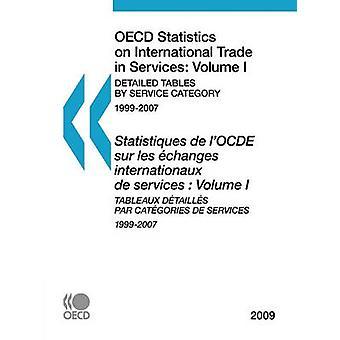 OECD statistikk handel med tjenester 2009 volum jeg detaljert tabellene ved tjenestekategorien av OECD publisering