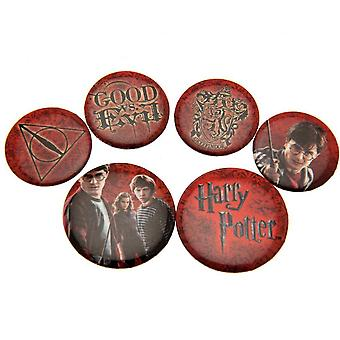 Harry Potter Red Button Badge Set