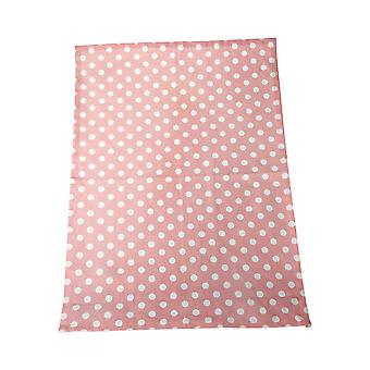 Dexam Polka Tea Towel, Blush Pink