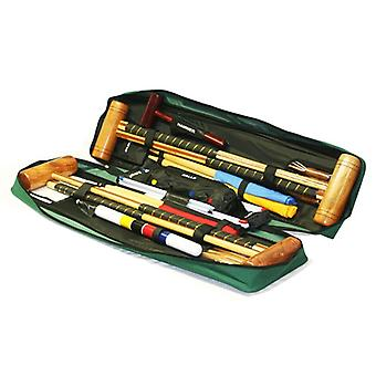 Garden Games Longworth 4 Player Croquet Set in a Tool Kit Bag