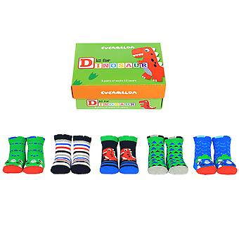 Cucamelon D Is For Dinosaur Socks Gift Set For Toddlers
