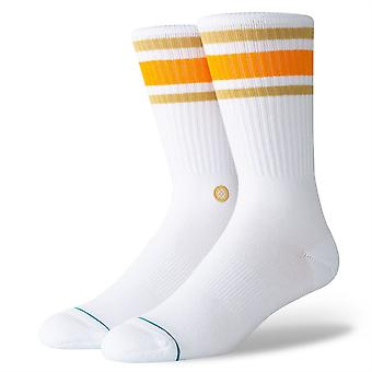 Stance Uncommon Solids Mens Socks ~ Boyd 4  tangerine (size L)