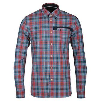 Fred Perry Herren Cameron Tartan Langarm Shirt M7377-395