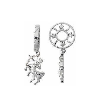 Storywheels Silver & Diamond Sagittarius Zodiac Dangle Charm S198D