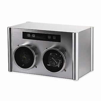 Rotations Silver Metal Double Watch Winder