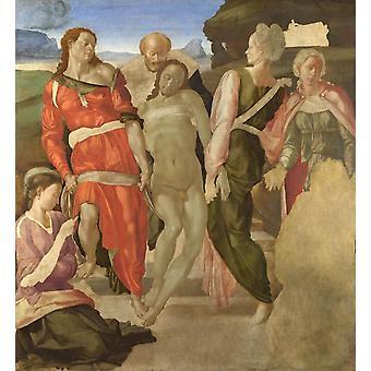 The Entombment, Michelangelo Buonarroti, 50x46cm