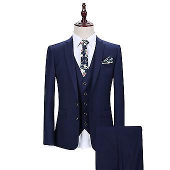 Allthemen men ' s 3-delige suits Solid Business blazer & vest & broek