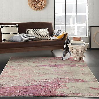 Celestial CES02 Ivory Pink  Rectangle Rugs Funky Rugs
