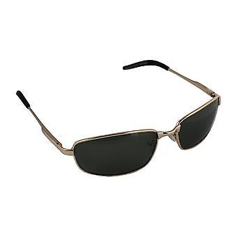 Sonnenbrille Sport Rechteck polarisierendes Glas Gold grün FREE BrillenkokerS305_1