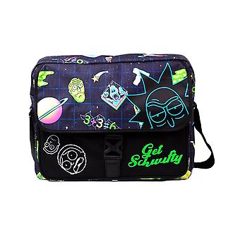 Rick and Morty Space AOP Laptop Messenger Bag