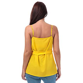 Womens French Connection Dalma Crepe Light Strappy Cami Top In Citrus