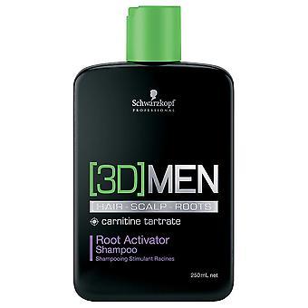Schwarzkopf 3D Men Root Activator Shampoo 250ml