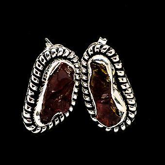Rough Garnet 925 Sterling Silver Earrings 1