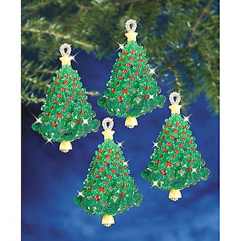 Holiday Beaded Ornament Kit Emerald Tree Twists Bok 7212