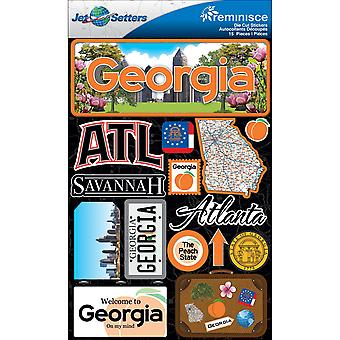 Jet Set Stickers dimensions 4,5 « X 6 » feuille Georgia Jst00 9