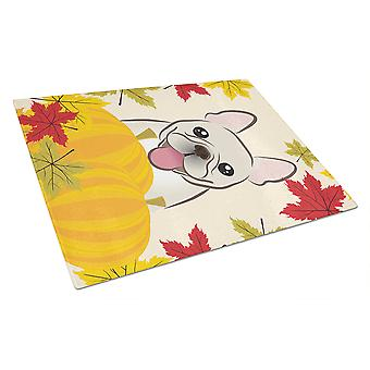 French Bulldog Thanksgiving Glass Cutting Board Large BB2044LCB