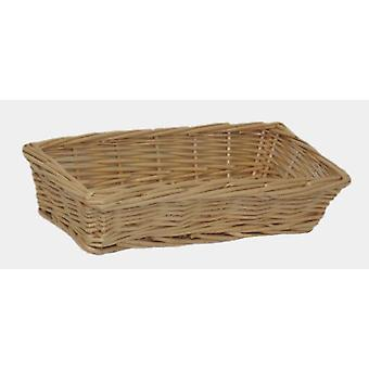 Mini Rectangular Wicker Tray