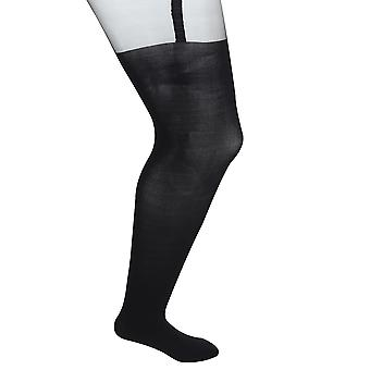 Black Mock Over The Knee Tights