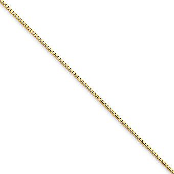 10k Yellow Gold Polished Lobster Claw Closure .75mm BOX Chain Necklace - Lobster Claw - Length: 16 to 30