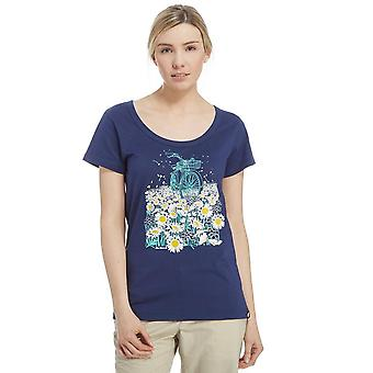 New Peter Storm Women's Daisy Bicycle Travel casual T-Shirt Navy