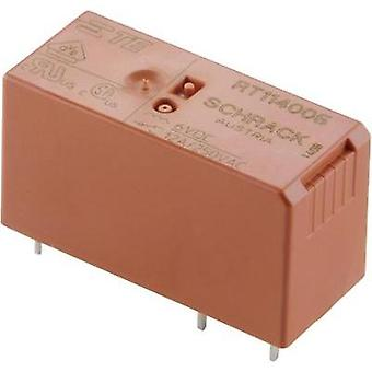 PCB relays 6 Vdc 16 A 1 change-over TE Connectivity RT314006 1 pc(s)