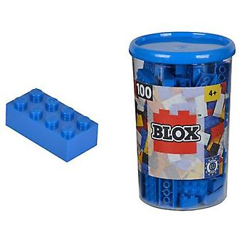 Simba Pot With 100 Blue Blocks (Toys , Constructions , Bricks And Pieces)