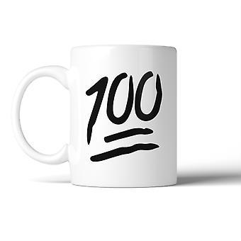 100 Points Mug Ceramic Coffee Mugs Gift For Christmas Birthday