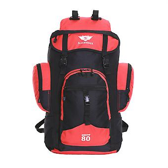 Slimbridge Knott 45 Litre Hiking Backpack, Black/Red