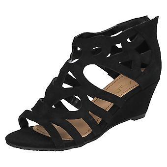 Kära Anne Michelle öppen tå Wedge sandaler