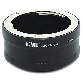 Kiwifotos Lens Mount Adapter: Allows Olympus Zuiko OM Mount Lenses to be used on any Sony E-Mount Camera Body - NEX-3, NEX-5, NEX-5N, NEX-7, NEX-C3